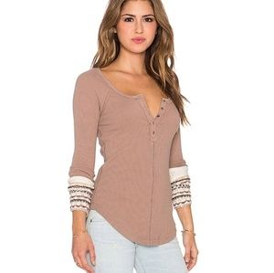NWT Free People Ski Lodge Mushroom Cuff Thermal